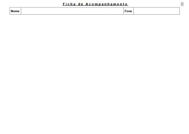Ficha de Avaliação e Acompanhamento