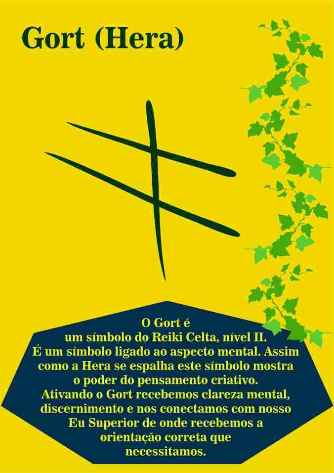 Símbolos Celta Arte - Gort - simples